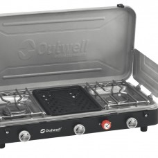 OUTWELL CHEF COOKER 3 BURNER STOVE WITH GRILL
