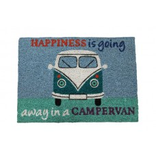 Quest Coir 'Hapiness Is Going Away In A Campervan' Welcome Mat
