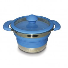 Kampa Collapsible Saucepan 1 Litre - Blue