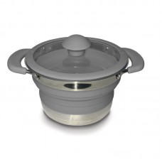 Kampa Collapsible Saucepan 1 Litre - Grey