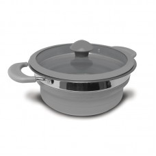 Kampa Collapsible Saucepan 1.5 Litre - Grey