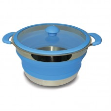 Kampa Collapsible Saucepan 3 Litre - Blue