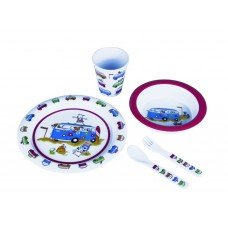Flamefield Harry & Friends 5 Piece Kids Melamine Dining Set