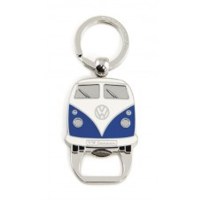 VW Camper T1 Key Ring & Bottle Opener - Blue
