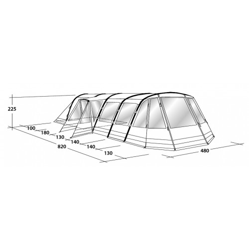 ... Outwell u0027Smart Airu0027 Vermont 7SA Tent - 2018 ...  sc 1 st  Tony Wild C&ing : outwell smart air tents - memphite.com